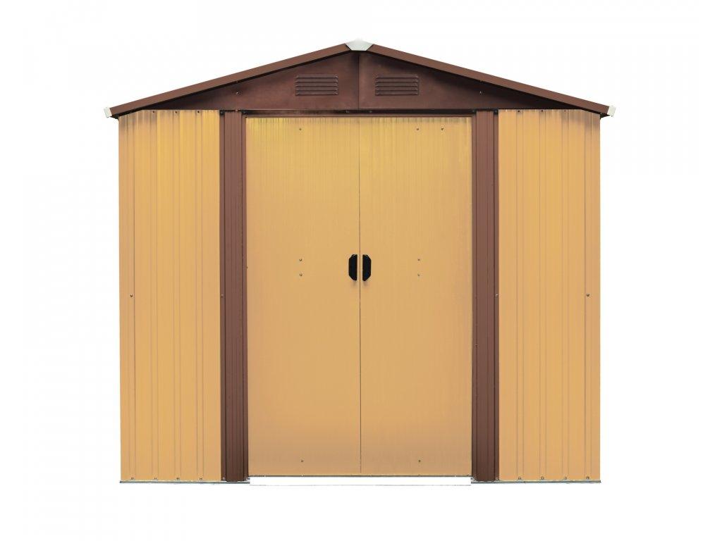 Záhradný domček MAXTORE 1012, hnedý  + Podlahová základňa k domčeku MAXTORE zdarma