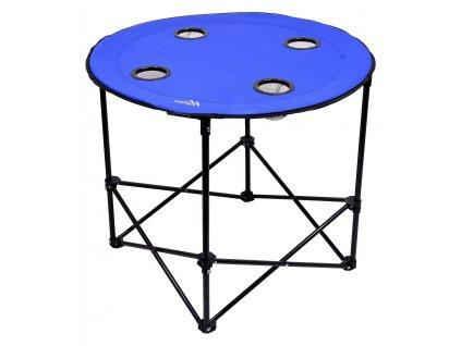 Stôl kempingový skladací SPLIT modrý