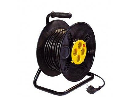Predlžovací kábel na bubne, 25 m, 3 x 1,5 mm, 4 zásuvky