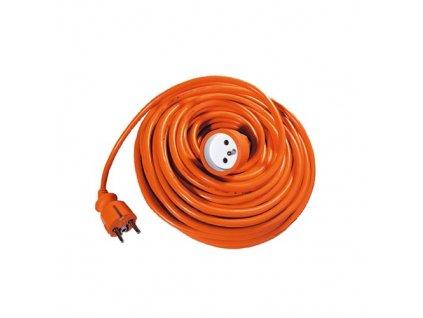 Predlžovací kábel 25 m, 3 x 1,0 mm, oranžový
