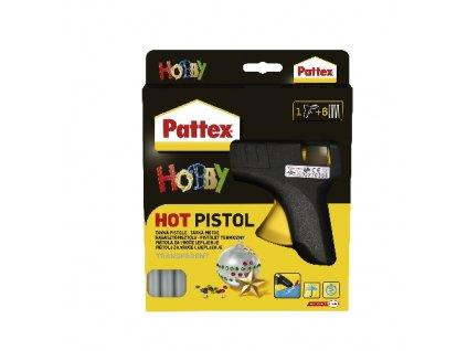 pištol tavná 70W, pr.11mm + 6ks tyčinek PATTEX