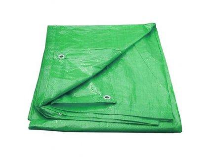 Plachta s okami 3 x 4m zelená, 100g/m2