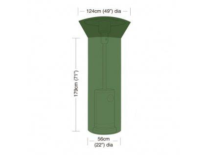 Krycia plachta na záhradný ohrievač pr.124 / 56 cm, v.179 cm, PE 90g / m2