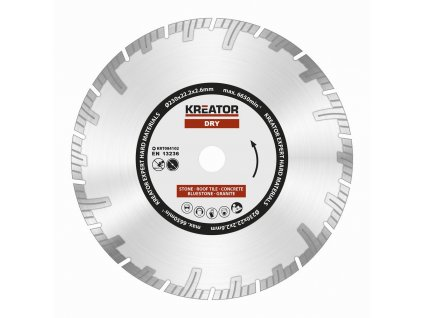Diamantový kotúč KREATOR EXPERT 230 mm, segmentový
