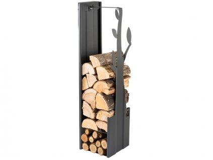 Zásobník na drevo strom čierny 270mm