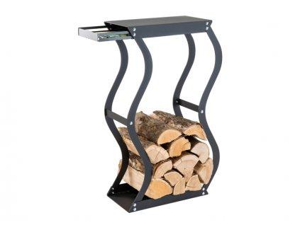 Zásobník na drevo Zigzag so zásuvkou