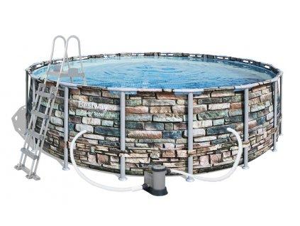 Bazén BESTWAY Power Steel Stone 5,49 x 1,32 m - 56886