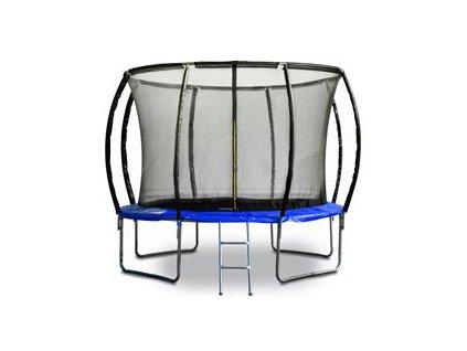 Trampolína G21 SpaceJump, 305 cm, modrá, s ochrannou sieťou + schodíky