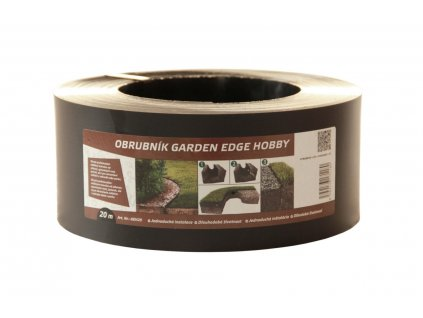 Záhradný obrubník GARDEN EDGE HOBBY 20 m čierny