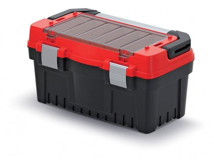 Kufor na náradie  EVO, červený s kovovým držadlom a zámkami