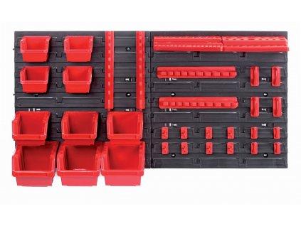 Závesný panel s 10 boxami a 22 držiakmi na náradie Orderline Kistenberg