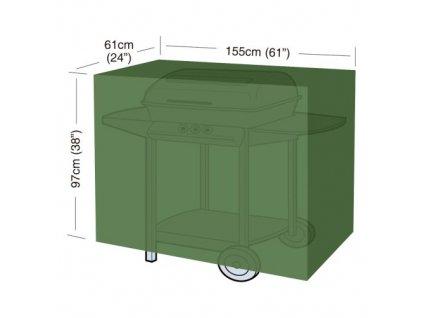 """Krycia plachta na gril CLASSIC """"L"""" 155 x 61 x 97 cm, PE 90g/m2"""