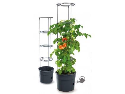 Kvetináč pre prestovanie paradajok a iných popínavých rastlín, Grower antracit 29,5 cm