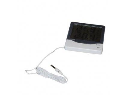 Teplomer digitálny - vonkajší/vnútorný 8 x 6 cm biely