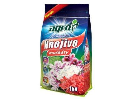 Organominerálne hnojivo AGRO muškáty 1 kg CZ/SK