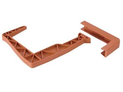 Držiak balkónových hrantíkov 15 x 13 cm, terakota, nastaviteľný