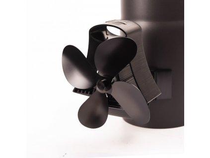 Ventilátor na dymovod FLAMINGO 4-lopatkový magnetický, čierny