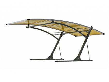 Prístrešok pre automobil G21 Carport black/yellow 5,8 x 3,1 m