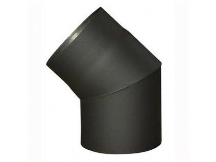 Dymové koleno 130 mm/45°, t.1.5 mm, čierne