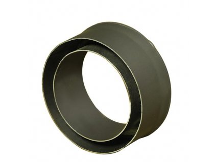 Komínová redukcia 120/130 mm (d.80 mm) t.1,5 mm, čierna