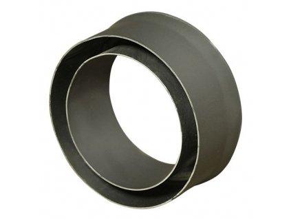 Komínová redukcia 130/200 mm (d.80 mm) t.1,5 mm, čierna