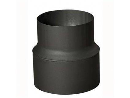 Rúrková redukcia 130/120 mm (d.160 mm), t.1,5 mm, čierna