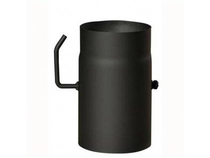 Dymová rúra s klapkou 150 mm/250, t.1,5 mm, čierna