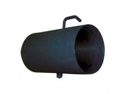 Dymová rúra s klapkou 125 mm/500, t.1,5 mm, čierna