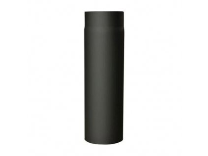 Dymová rúra s otv.120 mm/1000, t.1,5 mm, čierna