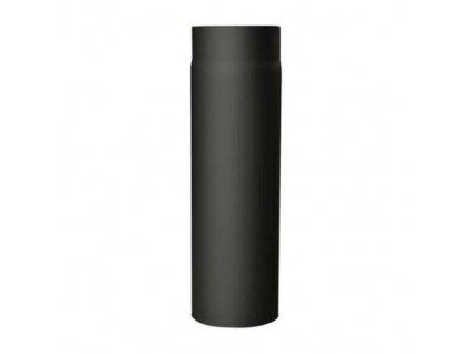 Dymová rúra s klapkou 130 mm/1000, t.1,5 mm, čierna