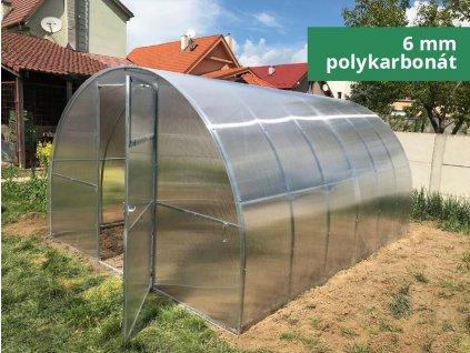 Polykarbonátový skleník IGEL ESTRAGON 8 x 3 m, 6 mm  + Lopata CAPO, kolík na sadenie, lopatka, záhradné nožnice, univerzálne hnojivo 1l