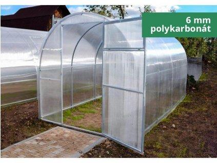 Polykarbonátový skleník IGEL GARLIC 8 x 1,64 m, 6 mm  + Lopatka, kolík na sadenie, záhradné nožnice, plečka