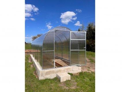 Polykarbonátový skleník IGEL TOMATO 4 x 2 m, 6 mm  + Lopata CAPO, kolík na sadenie, lopatka, záhradné nožnice, univerzálne hnojivo 1l