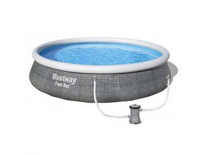 Bazén BESTWAY Fast Set Rattan 3,96 x 0,84 m - 57376