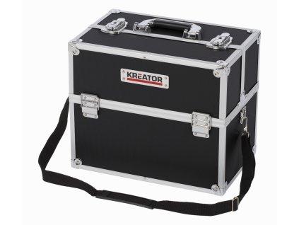Hliníkový kufor KREATOR 360x230x300mm, čierny