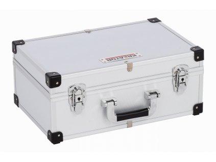 Hliníkový kufor KREATOR na 60CD strieborný