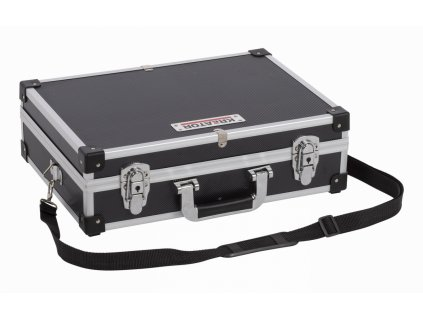 Hliníkový kufor KREATOR 420x300x125mm čierný
