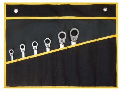 PROTECO sada kľúčov račňových s dorazom 6-dielna vo vinyle