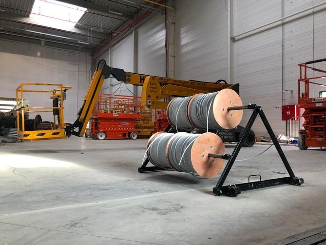 Odvíječe kabelů zvýší produktivitu