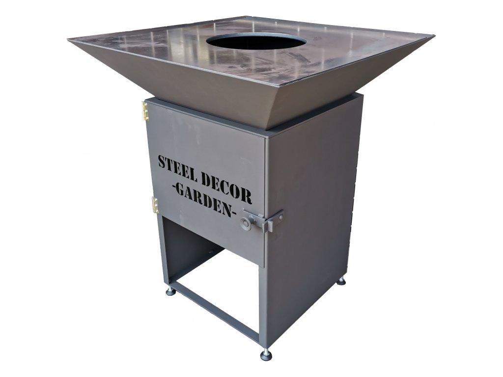 grill steel decor ohniště