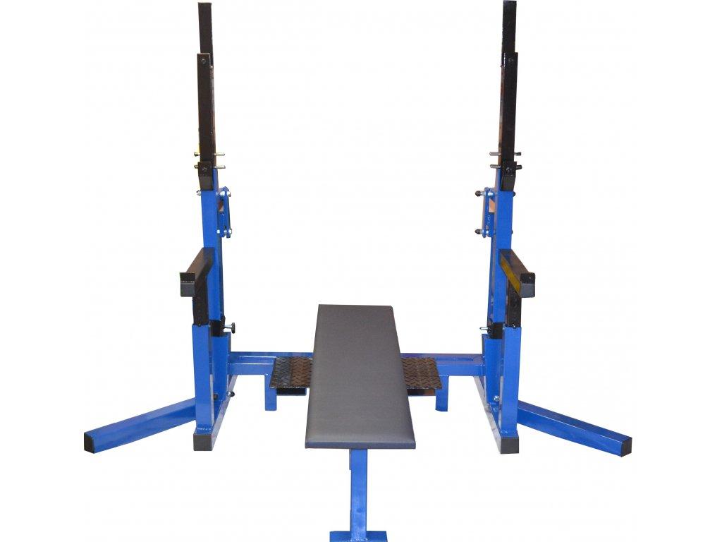 Posilovací základna-stojan na dřep, bench press. Dle pravidel IPF.