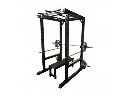 Masivní posilovací klec s bench press lavicí