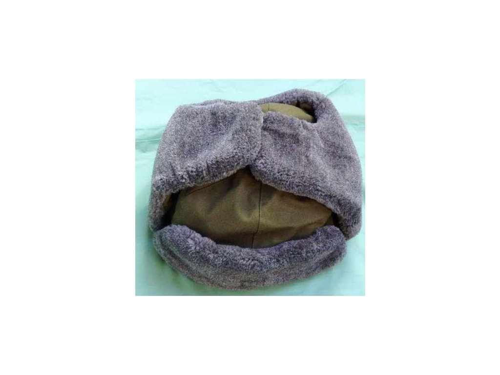 Ušanka khaki s umělou kožešinou UK 685ef4654d