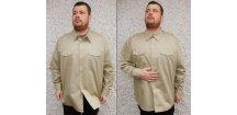 Košile vzor 95 letní, originál AČR, písková, 100% bavlna, nová