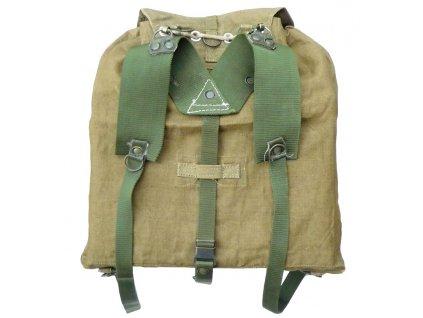 Velká polní vz. 60, zelené popruhy, tlumok 60, batoh na záda