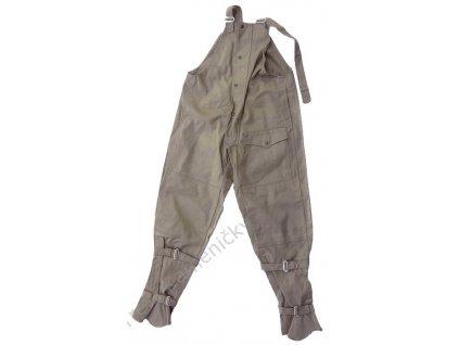 Kalhoty moto laclové, z tuhého plátna, originál ČSLA, nepoužité