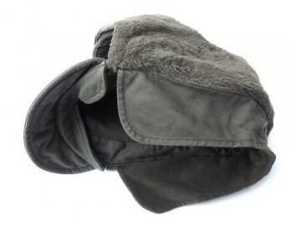 Čepice BW zimní, se kšiltem a beránkem na uši, originál BundesWehr, nepoužitá