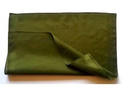 sada 12 ks vojenský zelený kapesník, barva oliva, nový