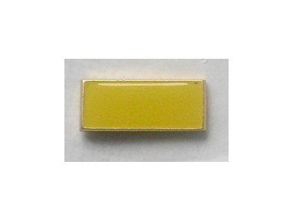 Odznak žlutý smaltovaný obdélníček, masív, originál army.