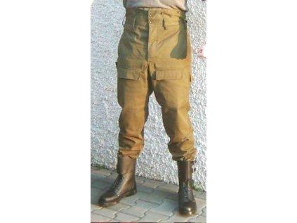 Kalhoty vzor 85 pracovní, vyšší pas, originál ČSLA, nepoužité